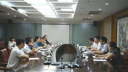 自治区住房城乡建设厅厅长周家斌与中国水务集团有限公司相关负责人进行座谈