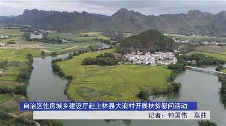 自治区住房城乡建设厅赴上林县大浪村开展扶贫慰问活动