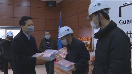自治区住房城乡建设厅组织慰问参与新型冠状肺炎定点收治医院建设的建筑工人