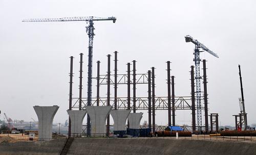 【工程动态】李宁体育馆目前钢结构基本