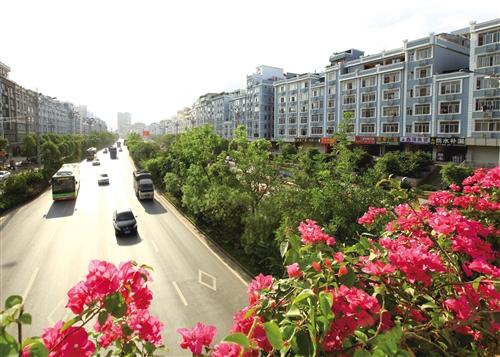 南宁 五象大道 良庆区段 建筑立面改造全面完成图片