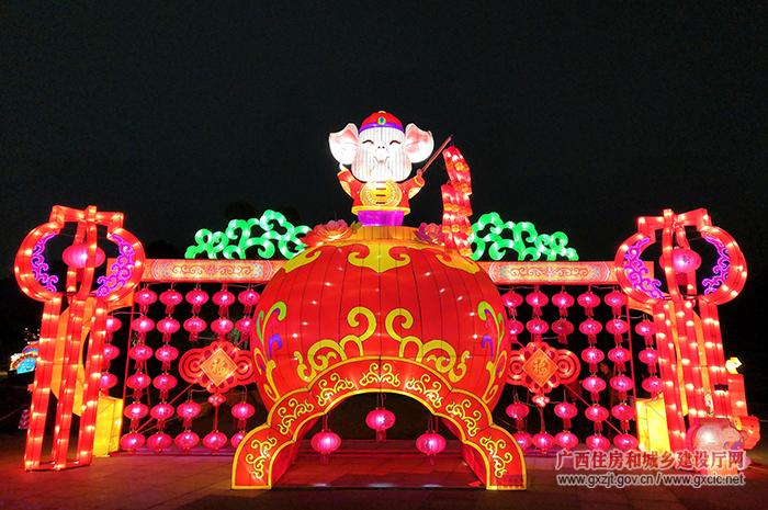 """以""""邕容华桂 福如灯海""""为主题的2019年园博园(邕宁)元宵灯光艺术节"""